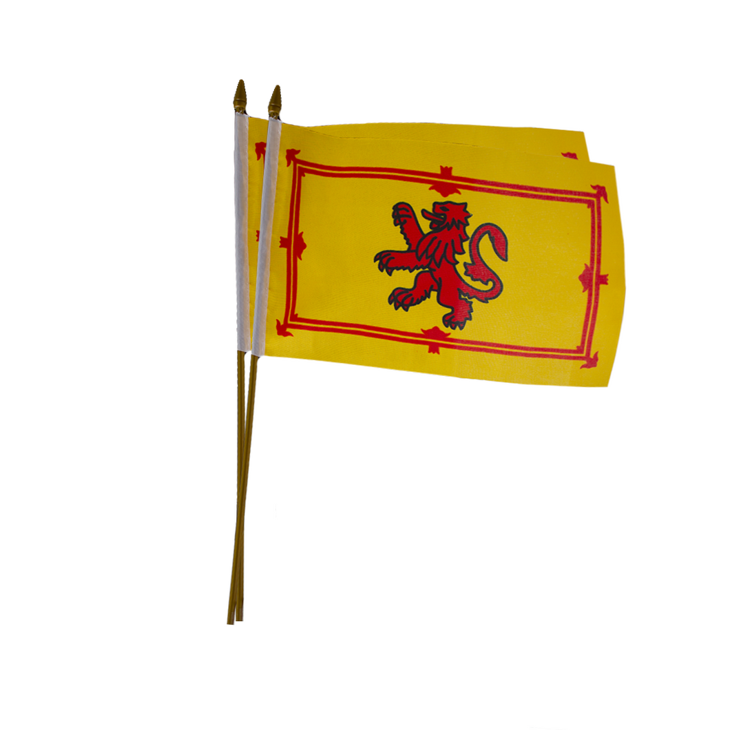 Lion Rampant Flag with Stick