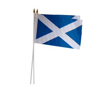 "Saltire Flag with Stick 9"" x 6"""