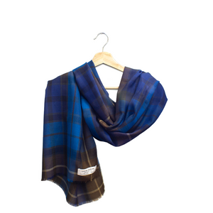 Lochcarron Spring Scarf Buchanan Blue Tartan | The Scottish Company | Toronto