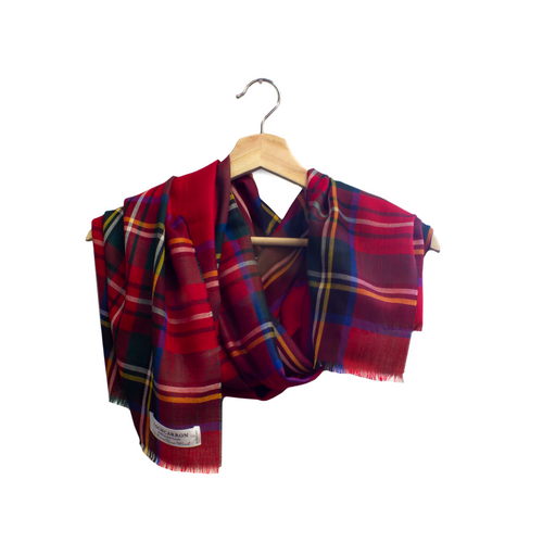 Lochcarron Spring Scarf Royal Stewart Tartan | The Scottish Company | Toronto