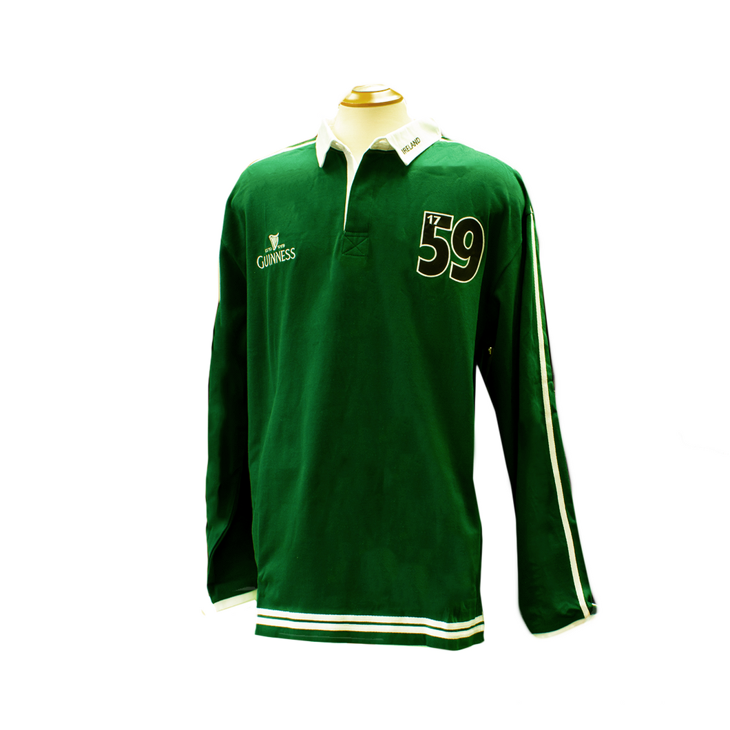 Guinness Green Traditional Rugby Shirt