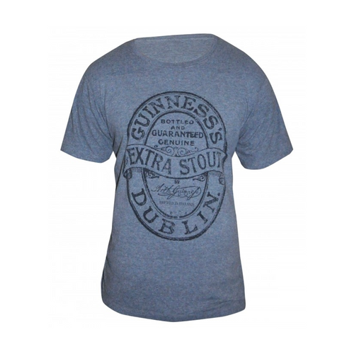 Guinness Grey Vintage Design T-Shirt