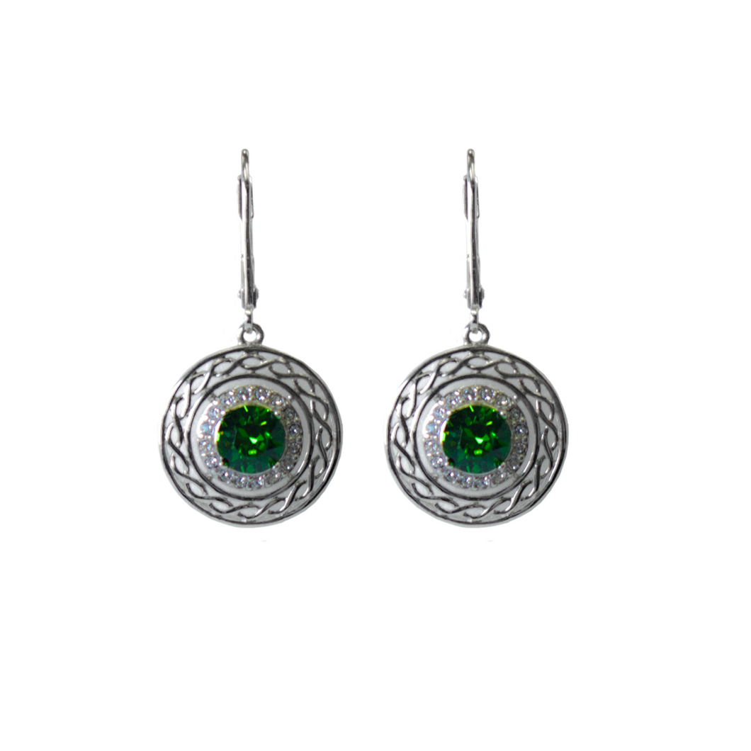 Shanore Sterling Silver Swarovski Crystal Celtic Earrings | The Scottish Company | Toronto