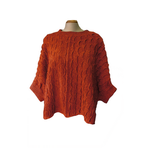 McConnell Women's Wave Sweater One Size - Rust | The Scottish Company | Toronto