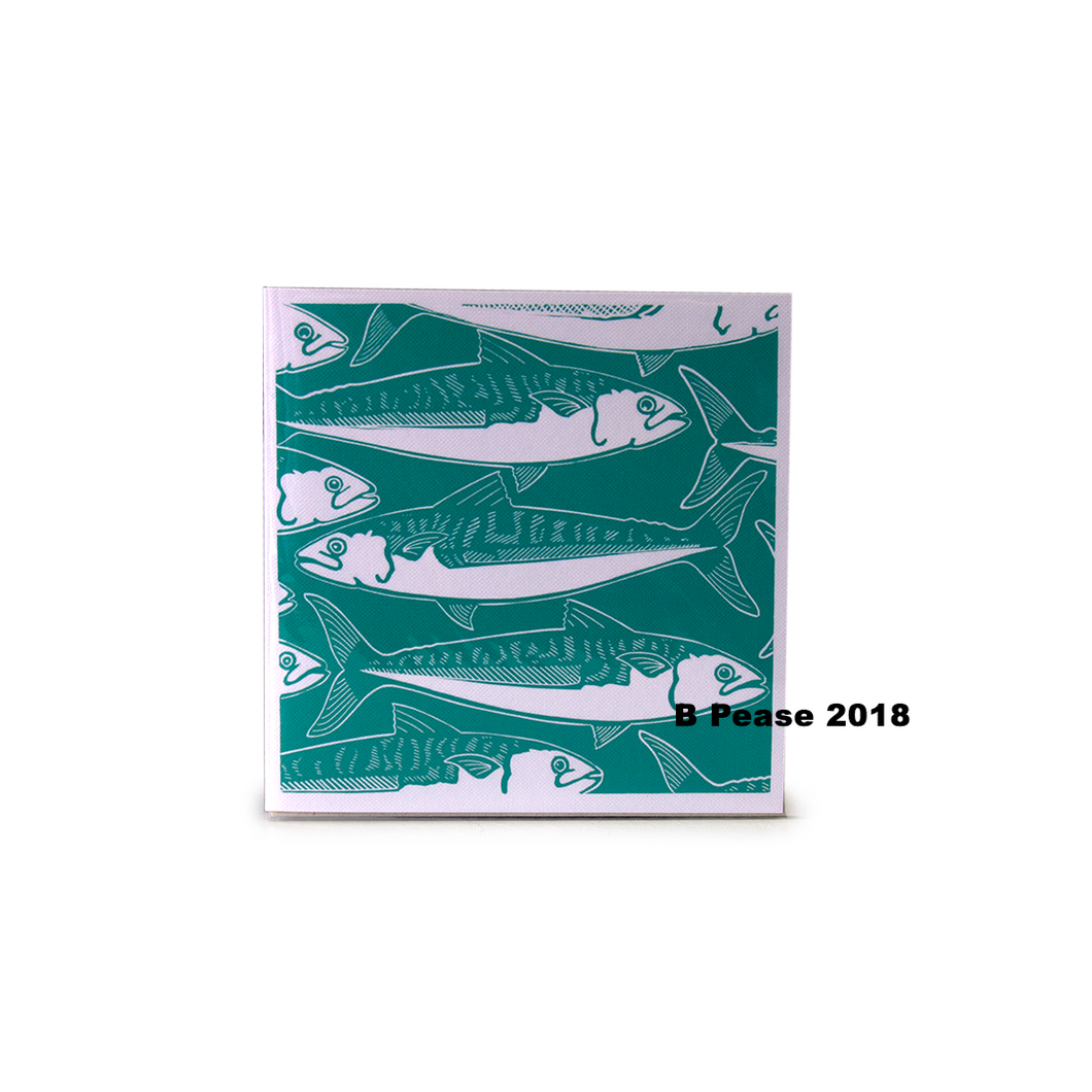 Babs Pease Design Mackerel Greetings Card| The Scottish Company | Toronto