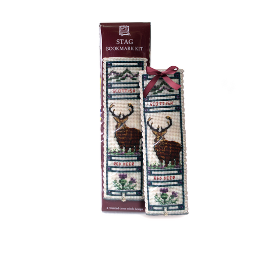 Art Pewter Stag Cross Stitch Bookmark Kit | The Scottish Company | Toronto Canada