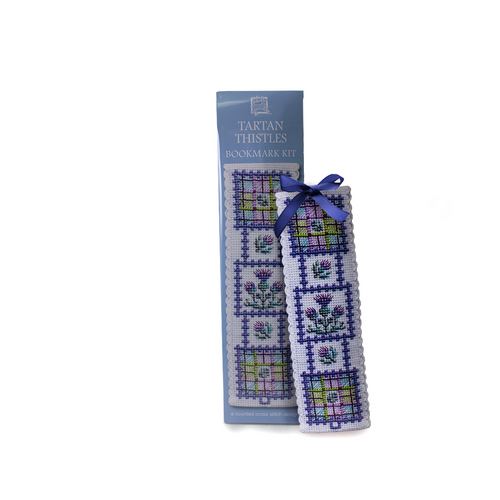 Art Pewter Tartan Thistles Cross Stitch Bookmark Kit | The Scottish Company | Toronto Canada