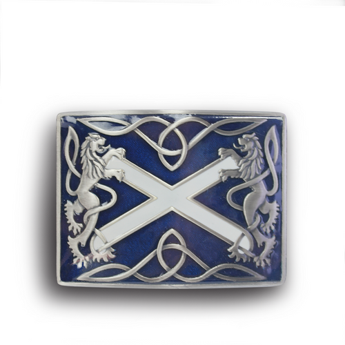 Blue Saltire Belt Buckle | The Scottish Company