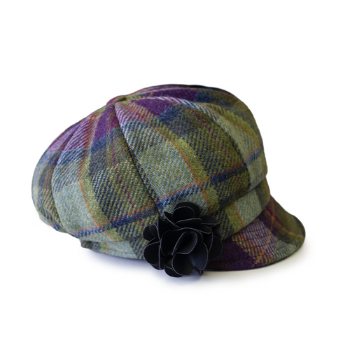 Mucros Weavers Flapper Hat Grey Tweed | The Scottish Company | Toronto