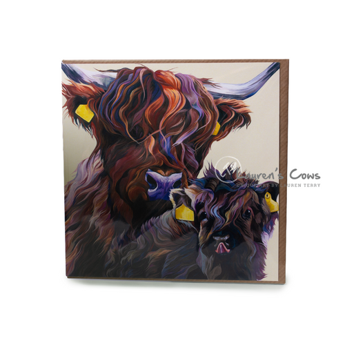 Lauren's Cows Highland Cow Greetings Card | The Scottish Company | Toronto