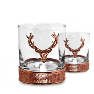 Copper Glass Tumber Set with Stag Detailing | The Scottish Company | Toronto