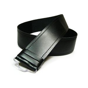 Plain Black Leather Hide Belt | The Scottish Company | Toronto