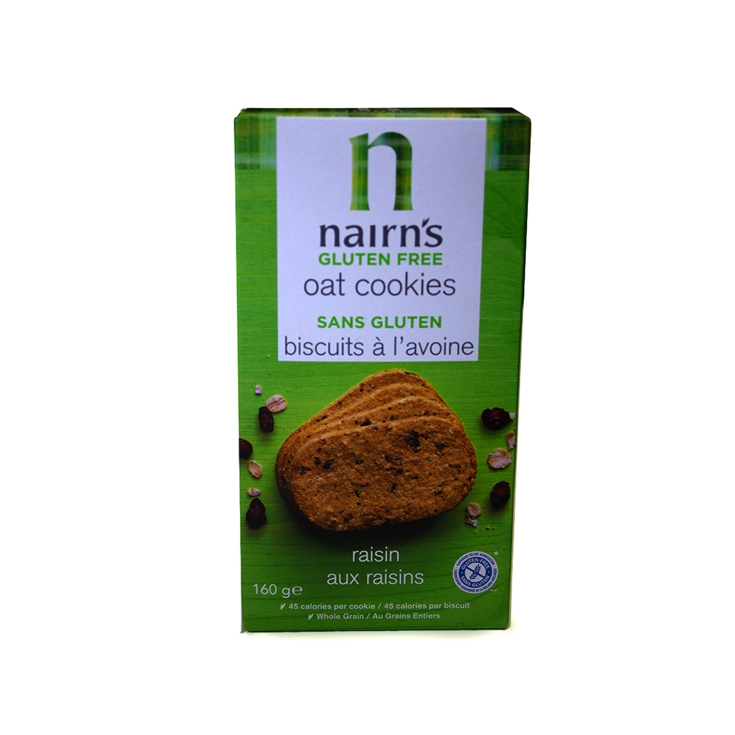 Nairns Gluten Free Oat Cookies Raisin Flavoured | The Scottish Company | Toronto