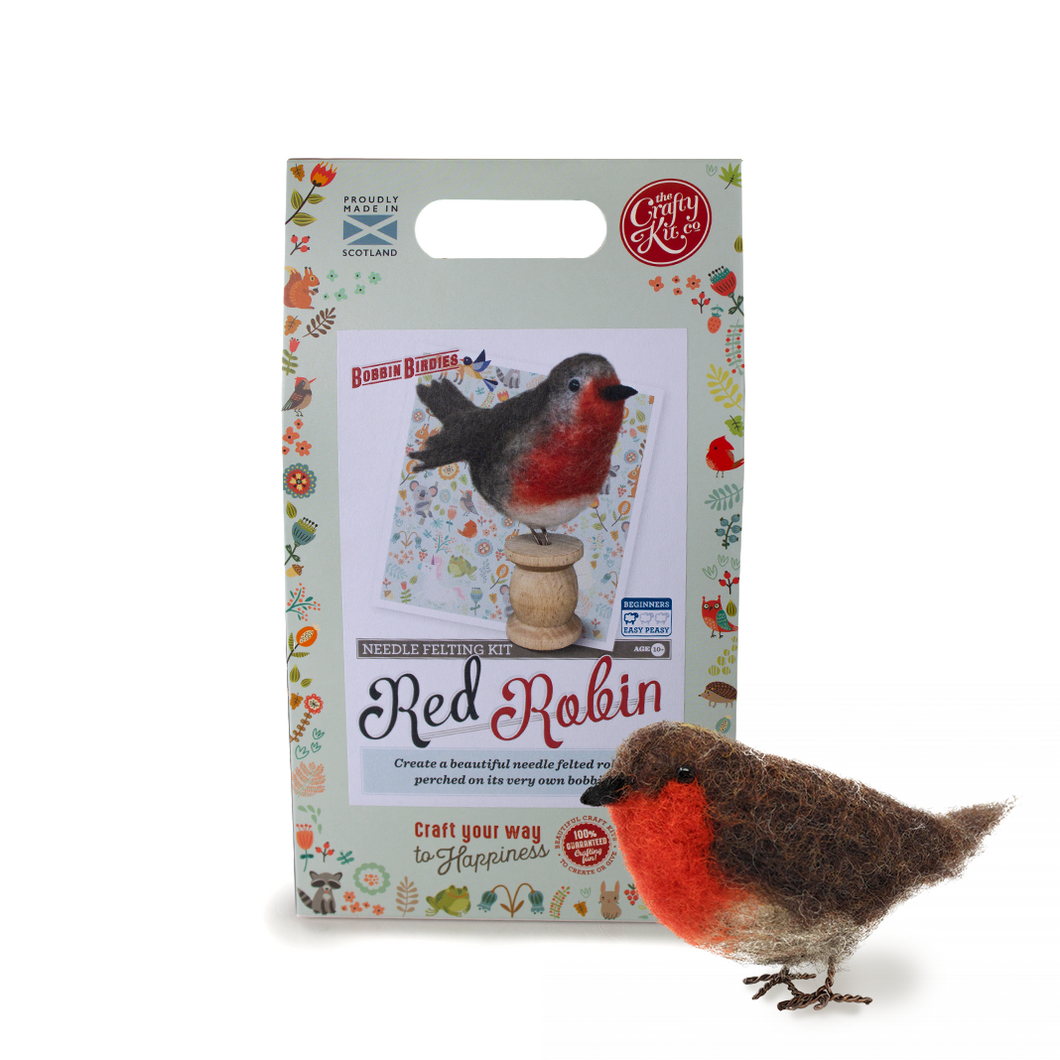Needle Felting Kit-Red Robin | The Scottish Company | Toronto