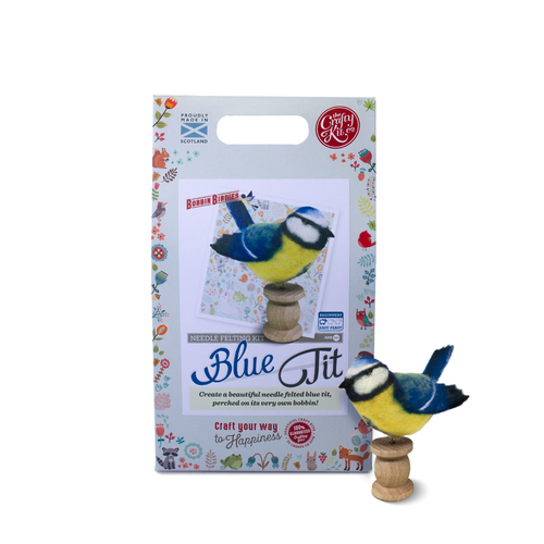 Needle Felting Kit-Blue Tit | The Scottish Company | Toronto