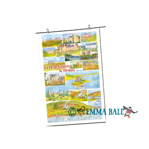 Emma Ball Watercolour Tea Towel | The Scottish Company | Toronto