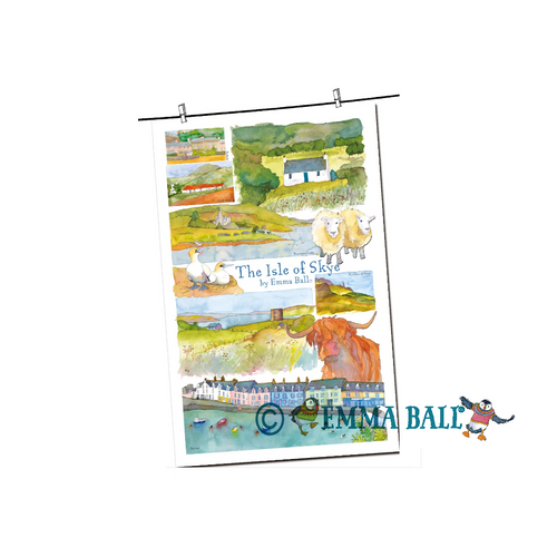 Emma Ball | Scottish Highlands Tea Towel - Isle of Skye