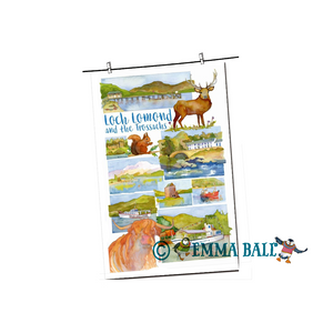 Emma Ball | Scottish Highlands Tea Towel - Loch Lomond