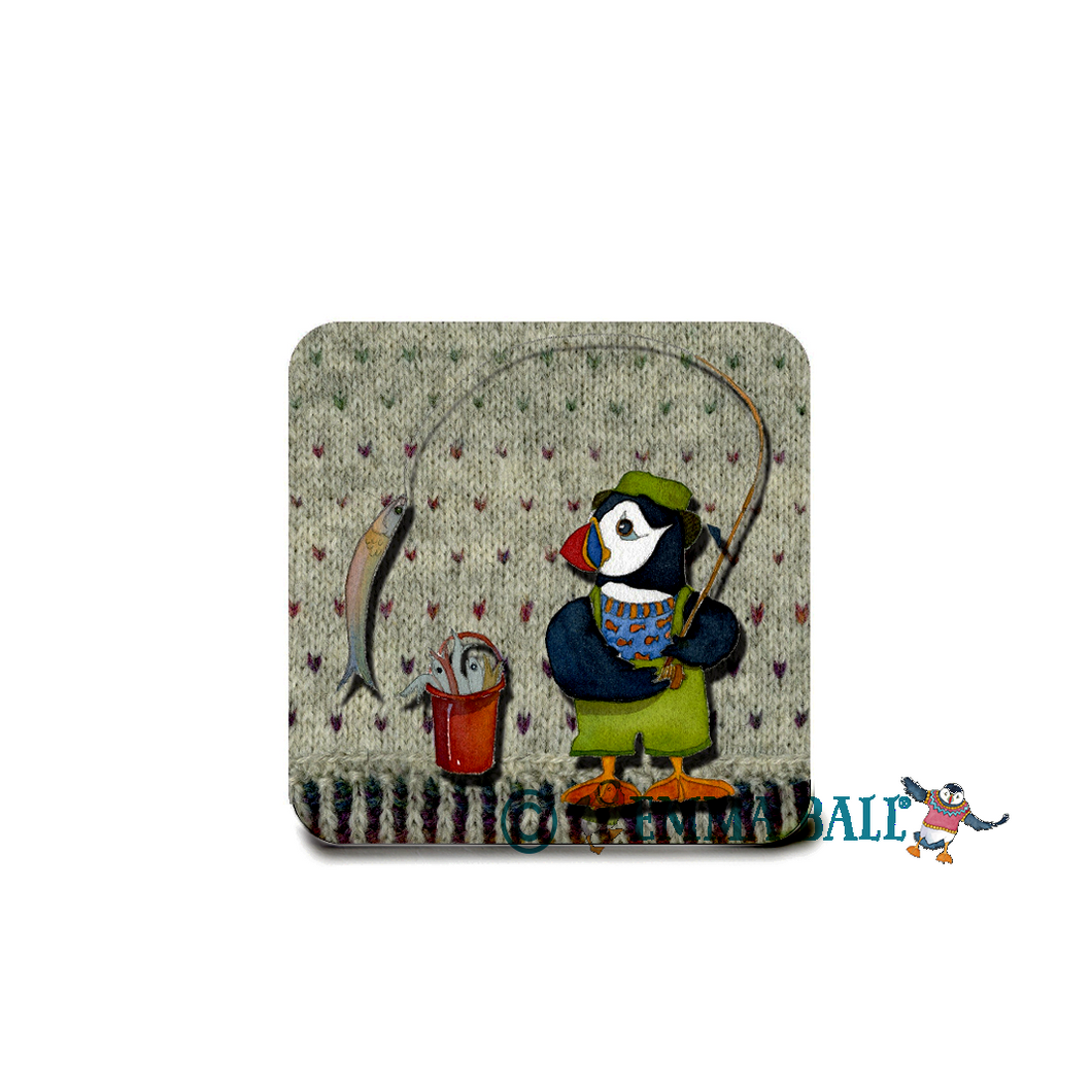 Emma Ball Wooly Puffin Coaster | The Scottish Company