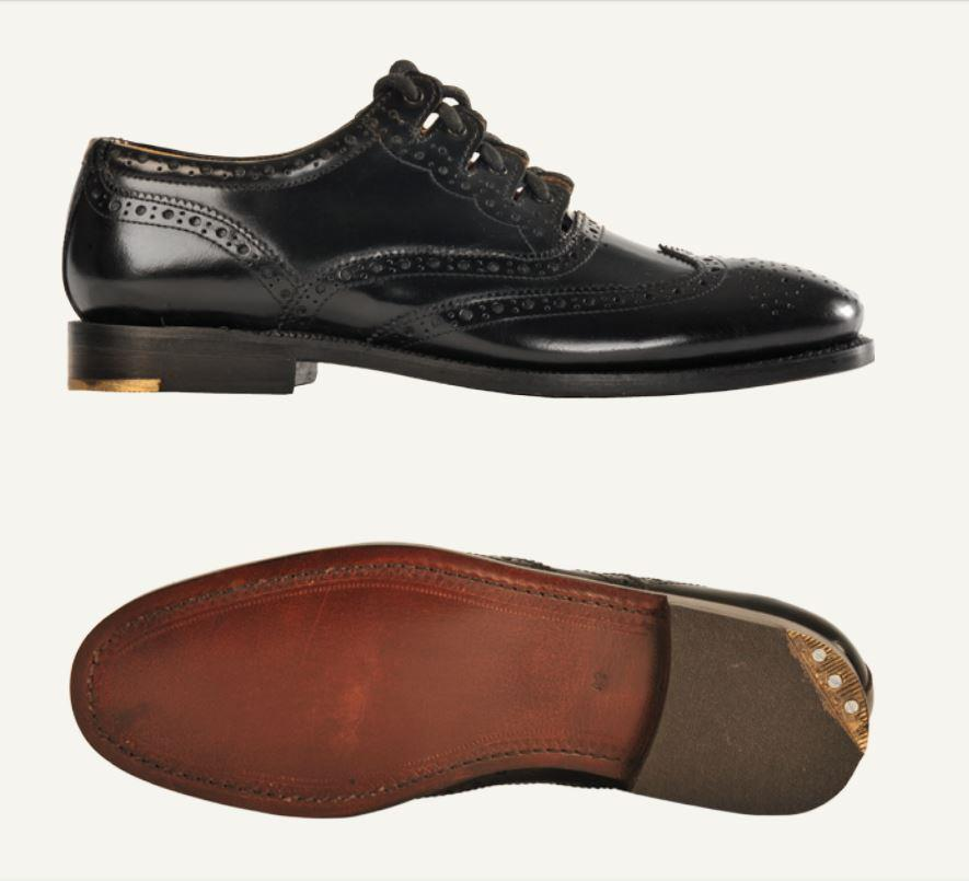 Black Ghillie Brogues | Leather upper & leather stitched sole