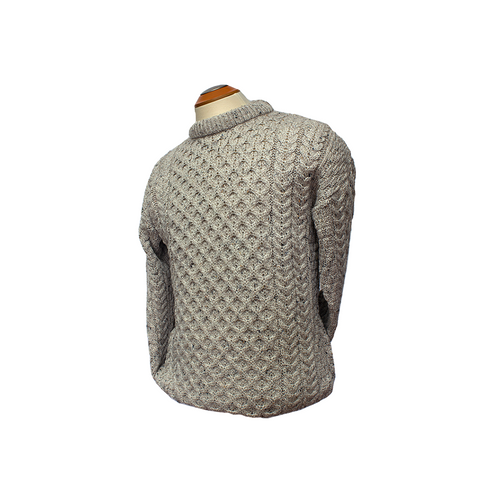 West End Knitwear Aran Crew Neck Sweater | The Scottish Company | Toronto