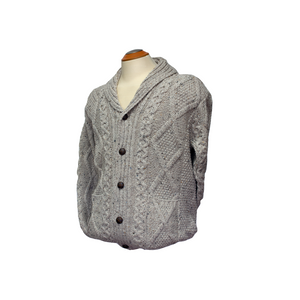 West End Knitwear Aran Shawl Collar Cardigan | The Scottish Company | Toronto
