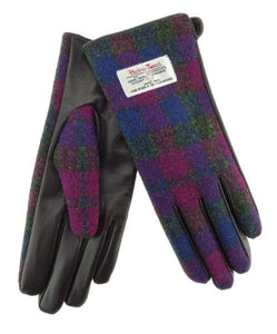 Harris Tweed & Leather Women's Gloves | The Scottish Company