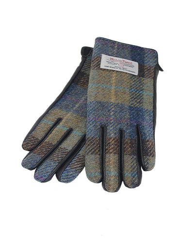 Harris Tweed and Brown Leather Gloves | The Scottish Company