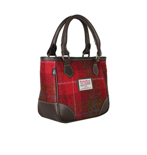 Bucktrout York Handbag Harris Tweed Red | The Scottish Company