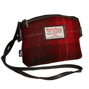Bucktrout | Jura Cross-Body Bag | Harris Tweed Red
