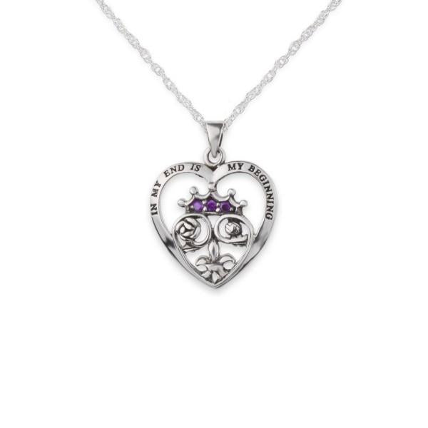 Mary, Queen of Scots inspired silver heart pendant | The Scottish Company