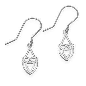 Ortak Celtic knotwork silver earrings | The Scottish Company