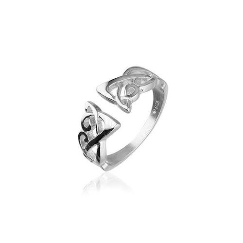 Ortak |  Archibald Knox Silver Celtic Ring