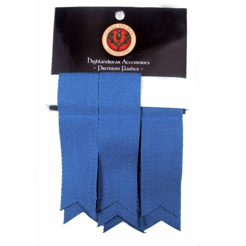 Premium Garter Flashes Ancient Blue