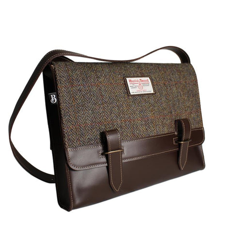 Bucktrout Harris Tweed Messenger Bag | The Scottish Company