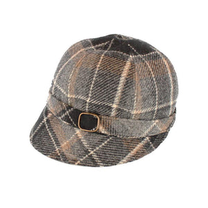 Mucros Weavers | Flapper Hat Grey Tartan