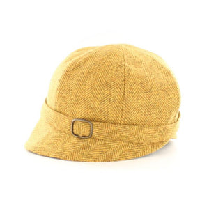 Mucros Weavers | Flapper Hat Yellow Tweed
