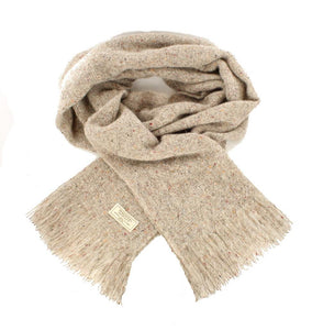 Mucros Weavers Islander Scarf Oatmeal | The Scottish Company