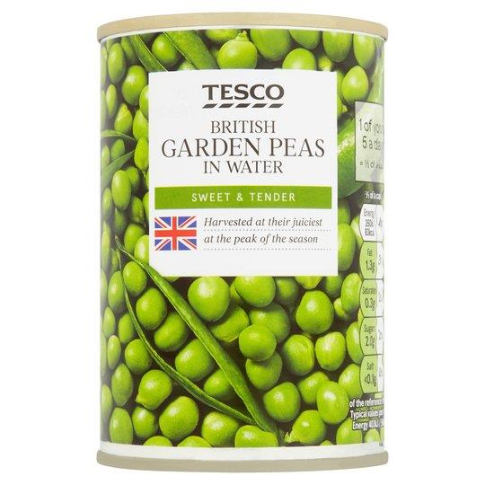 Tesco British Garden Peas in water