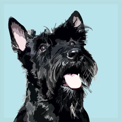 Angus Robertson Scottie Greeting Card, The Scottish Company