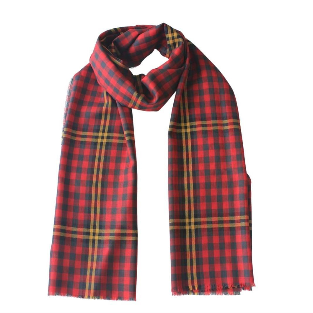 Lochcarron Red Rose Tartan Scarf | The Scottish Company