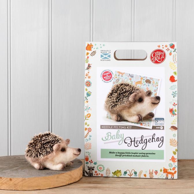 The Crafty Kit Company Babt Hedgehog Needle Felting Kit | The Scottish Company