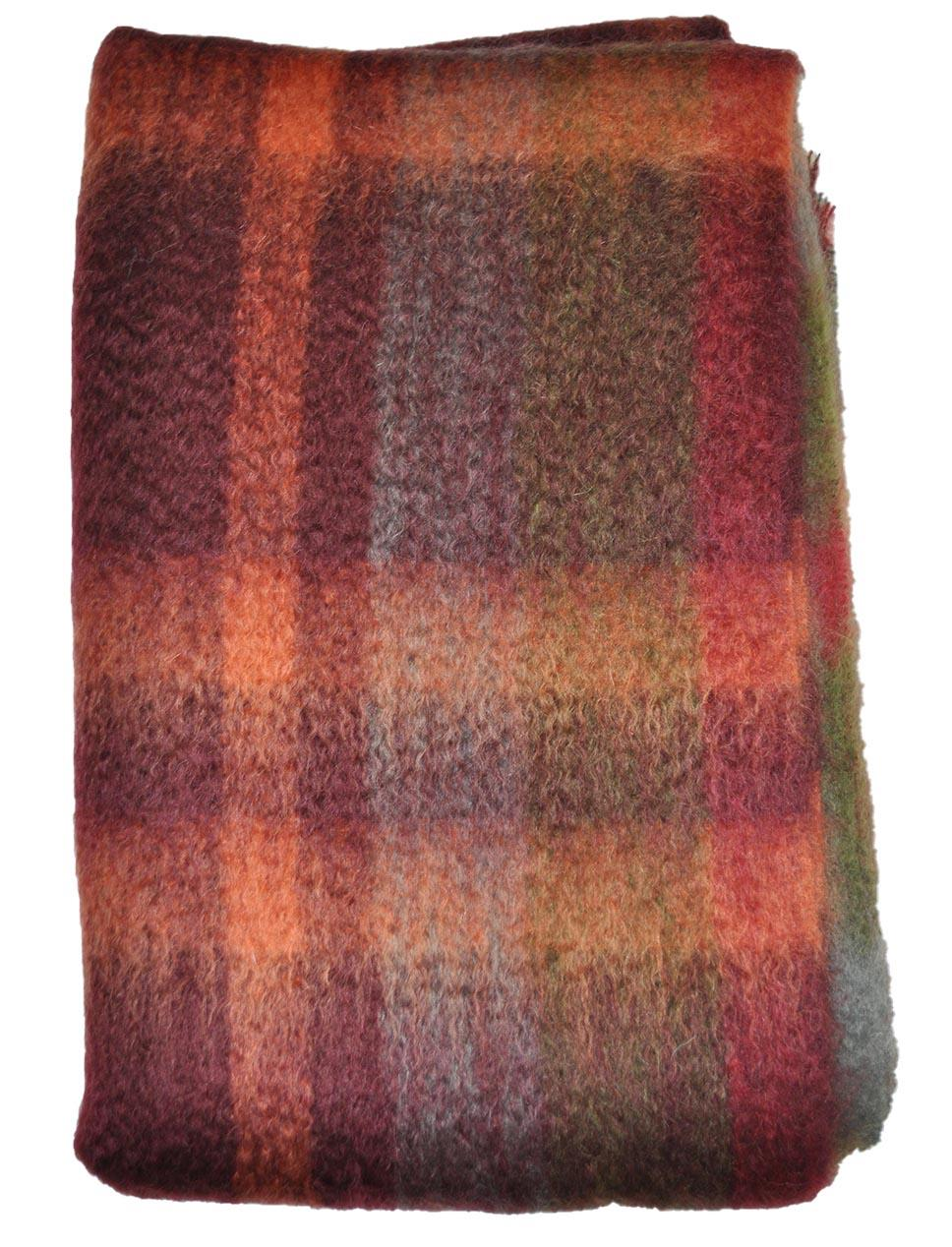Green Grove Weavers | Mohair Throw - Russet