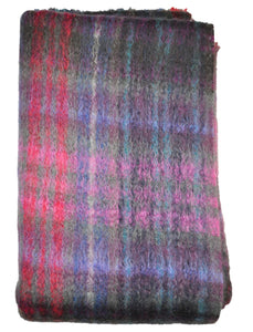 Green Grove Weavers | Mohair Throw - Sloeberry