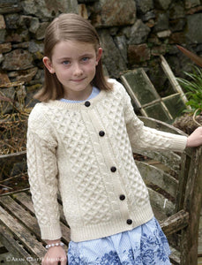 Arancraft Children's Cable Knit ARan Cardigan | The Scottish Company
