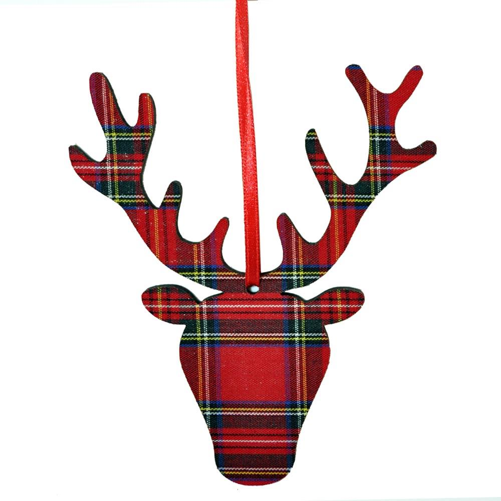Royal Stewart Stag Head ornament | The Scottish Company
