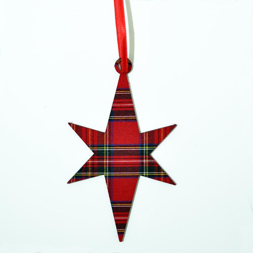 Royal Stewart Star Ornament | The Scottish Company