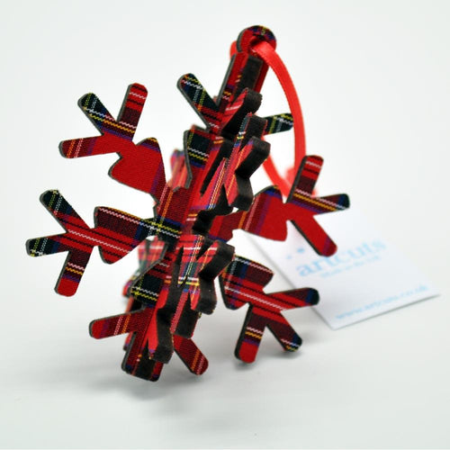 Royal Stewart 3-D Snowflake ornament | The Scottish Company
