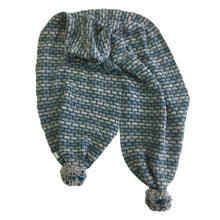 McConnell Basketweave bobble scarf - cornflower | The Scottish Company