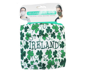 Reusable Adult Face Mask | Ireland Shamrocks
